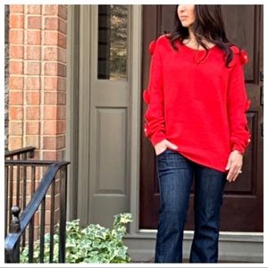 ✨LAST ONE✨PARIS✨Red Chic sleeves detail sweater